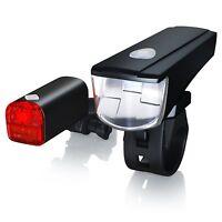 LED Fahrradlicht Fahrradbeleuchtung Fahrradlampe set inkl. Batterien & Rücklicht
