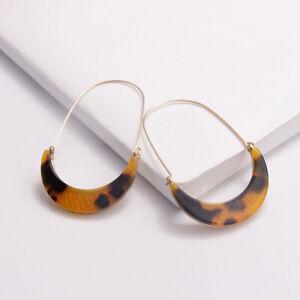 1Pair Women Moon Acrylic Geometric Drop Dangle Earrings Statement Jewelry
