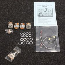 Complete Guitar Circuit Wiring Kit for Gibson Style Guitar, Les Paul, SG Blk