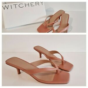 NEW WITCHERY SANDALS 42 EU Strappy Leather Heels PINKY TAN SAHARA COLOUR RR$159
