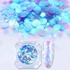1.5g BORN PRETTY Mermaid Effect Nail Glitter Sequins Semi-transparent Round Tips