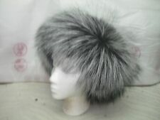 NEW  SILVER FUR FOX Color HEADBAND made of the finest  SILVER FOX Skins