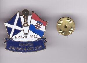 Scotland v Croatia ( WC 2013 )  - lapel badge butterfly fitting