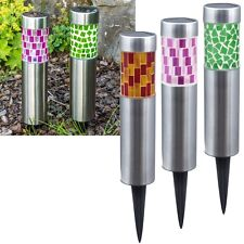 LED Solar MOSAIK Leuchte 26x6,5cm Solarlampe Gartenleuchte Solarleuchte Lampe