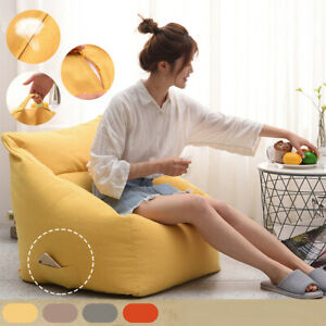 Round Bean Bag Cover Sofa Cover Indoor Lazy Seat Lounger Cover Adult Gaming Big