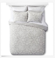 The Industrial Shop Tile TWIN SIZE Grey Gray Duvet Cover Sham Set Bedding New