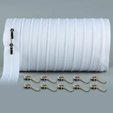 10 Meters #3 Continuous Zipper Pullers Nylon Sewing Double Slider Zippers Closed