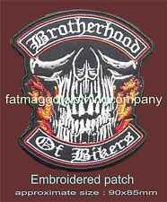 Brotherhood of Bikers Embroidered Biker / Skull Patch Motorbike Motorcycle