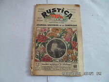 RUSTICA N°24 13/6/1937 FLORALIES PARISIENNES OIE BLANCHE DU POITOU           G14