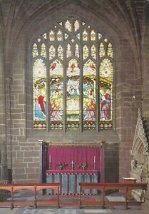 Chester Cathedral. East Window. Gordon Fraser postcard. Written on (1970) FC