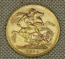 1884 Gold Sovereign Victoria and Dragon ( Young Head ) 9