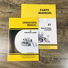 Parts Operators Owners Manual For John Deere 91 Loader Fits 440 440ic Crawler