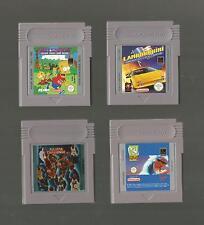 Game Boy/4 juegos-Cool Spot/Bart Simpson/Lamborghini/AllStar Challenge