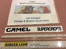 RARE Vintage CAMEL SUPERCROSS Decal Sticker BLACK YZ RM KX CR 125 250 500 NEW!!