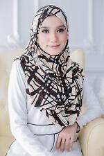 Instant Hijab/Slip On Printed Double Loop KAMILIA High Quality Lycra Shawl