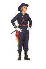 UNION OFFICER TEEN COSTUME CIVIL WAR SOLDIER GENERAL ARMY TEENAGE UNIFORM BLUE