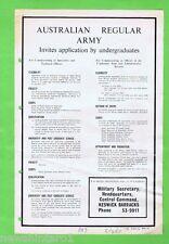 #T37.   1963  AUSTRALIAN REGULAR ARMY  RECRUITMENT  POSTER