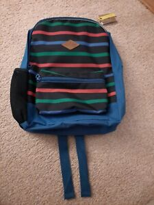 Joules Boys Schoolbag Backpack Sportsbag Blue Stripped Reflective New.