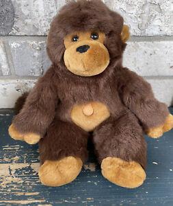 "Main Joy Limited Brown Ape  Monkey 11"" Sitting Plush stuffed Animal Toy P9"