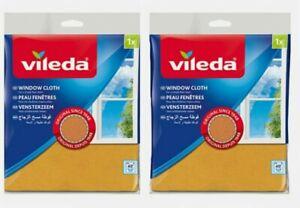 2 Pack Original Vileda Window & Glass Cleaning Cloth Clean Streak Free Finish