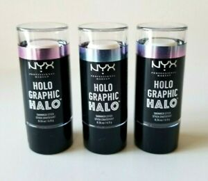 NYX HoloGraphic HALO Shimmer Stick Highlighter ~ Pick Your Colour~ 0.24 oz NEW