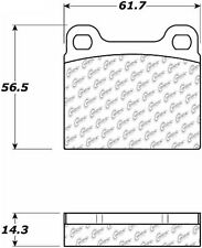 Disc Brake Pad Set-FWD Rear,Front Centric 105.00310