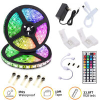 32.8 Feet RGB 5050 LED Strip Light SMD Dazzling String Lamp IP20 with remote kit