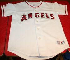 LOS ANGELES ANGELS WHITE BASEBALL JERSEY YOUTH MEDIUM  - MAJESTIC