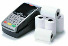 More details for 20 rolls  57x40mm thermal paper till rolls credit card machine worldpay ingenico