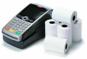 20 Rolls  57x40mm Thermal Paper Till Rolls Credit Card Machine Worldpay Ingenico