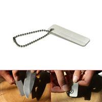 1x Mini Knife Sharpener Outdoor Camp Hunt Tool Diamond Stone Pocket Multi-tools