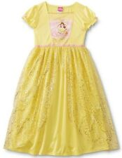 Disney BELLE Nightgown New Girl's 4 Beauty and the Beast Costume Dress Pajamas