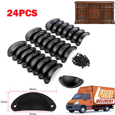 24Pcs Cabinet Shell Pull Cupboard Door Drawer Cup Handle Knobs Kitchen Hardware