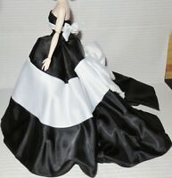 EVENING C ~ DRESS ~ BARBIE SILKSTONE BLACK & WHITE FOREVER 60th ANNIVERSARY GOWN