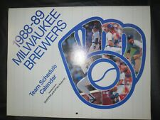 Milwaukee Brewers 1988 Team Calendar ROBIN YOUNT TEDDY HIGUER PAUL MOLITOR
