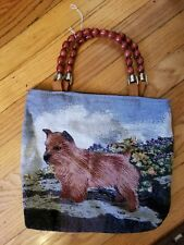 Norwich Terrier Dog Breed tapestry purse, one of a kind