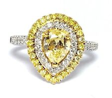 Curtis J Lewis Find Hana 18k White And Yellow Fancy Yellow Diamond Ring