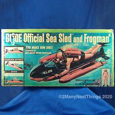 VINTAGE GI JOE SEA SLED ((BOX ONLY)) HASBRO 1966 BOX #8050 FOR SCUBA DIVER SET