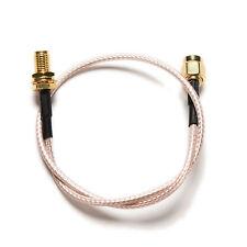 1PC Cable RP.SMA Male Jack to Female Plug Bulkhead Crimp RG316 Pigtail 30cm HFUK