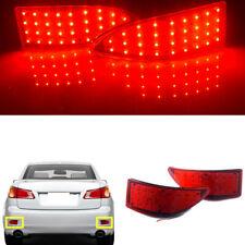 1Pair Red Fog Lamps Rear Bumper Lamp Brake Light For Lexus IS250 IS350 2006-12