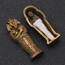 Resin Egyptian Mummies Figure in a Sarcophagus Home Ornament Halloween Gift