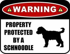 Warning Property Protected by a Schnoodle (Silhouette) Laminated Dog Sign