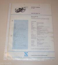 Typenblatt / Technische Daten Motor - Sachs 504/1 A - 1,8 PS - Stand 1972!