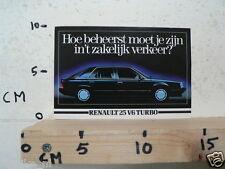 STICKER,DECAL RENAULT 25 V6 TURBO CAR AUTO