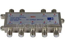 DISEQC SATELLITE 8x1 MULTI DISH SWITCH LNB NETWORK FTA