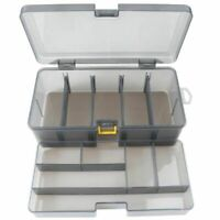 Dual Layer Fishing Tackle Box Accessories Lures Bait Storage Case Shrimp Boxes