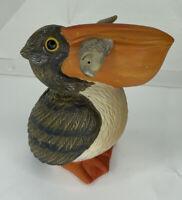"""CERAMIC PELICAN With Fish In His Beak Bank 5.5"""" tall"""