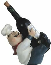 Fat French Chef Wine Bottle Holder Poly Resin Kitchen Figurine Statue decor NEW