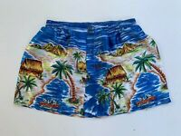 TARGET Tropical blue logo silky boxer shorts size 85-90 made in Australia