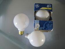 Vintage Vanity GE Round Light Bulbs 40 Watts Set of 3